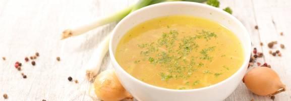 Potages et soupes, bouillon légumes, soupe à l'oignon, potage tomate